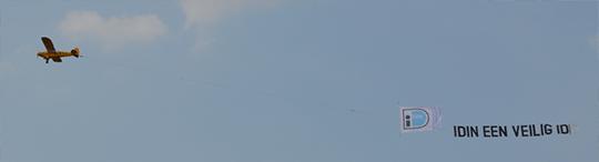 iDIN Vliegtuig banner
